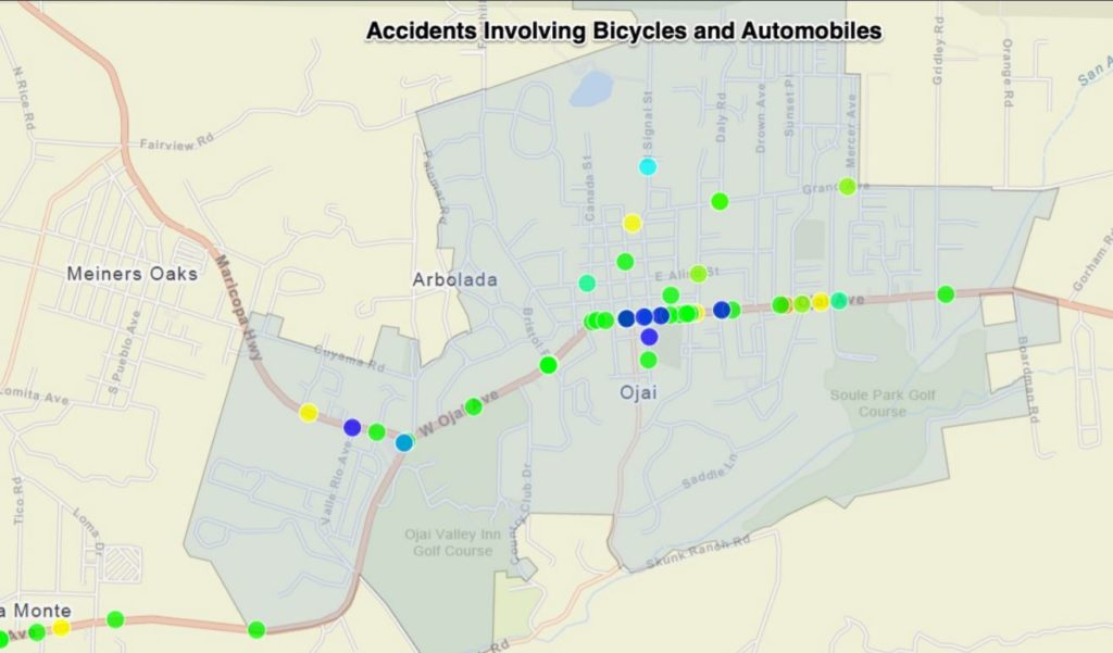 BIKE/CAR ACCIDENTS OVER LAST 12 YEARS